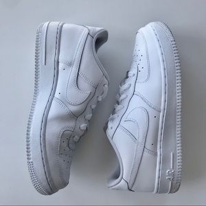 NIKE AIR FORCE 1 in white.  Worn once